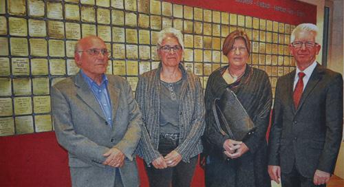 von links Rolf Wüst, Christine Welter, Waltraud Hemmerich und Pfarrer Werner Zupp (Rhein-Zeitung/Foto: Eva Catalina Blum)